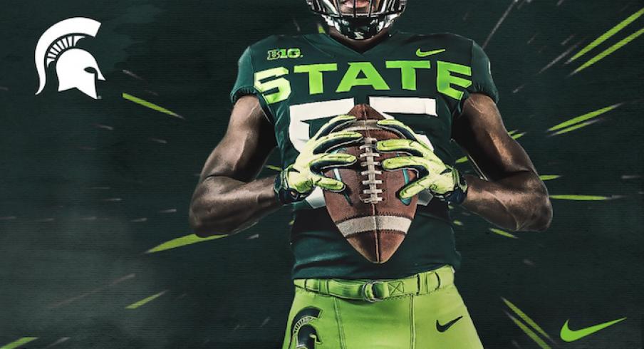 Michigan State's new alternate uniforms.