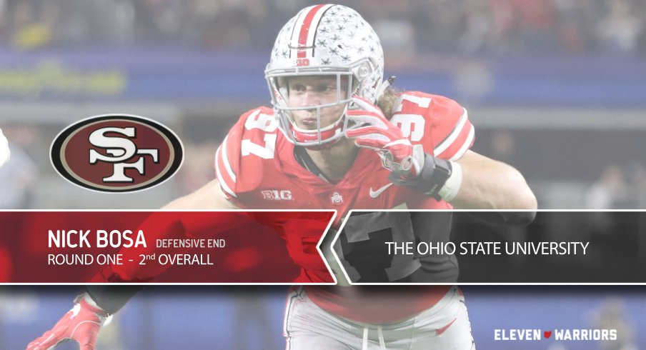 d86fe8616 Nick Bosa Selected By San Francisco 49ers with the No. 2 Overall ...