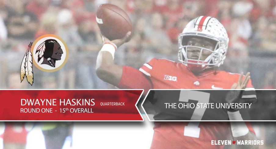 616906d9 Dwayne Haskins Selected By Washington Redskins with the No. 15 ...