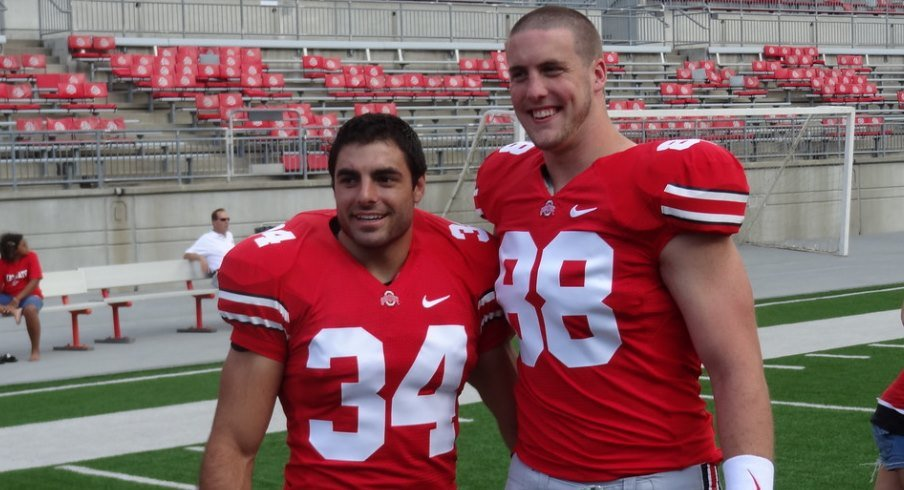 Former Ohio State players Nate Ebner and Reid Fragel