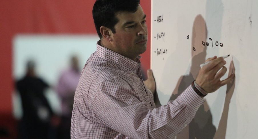 First-year head coach Ryan Day shared his approach to game-planning at the 2019 Ohio State Coaches Clinic