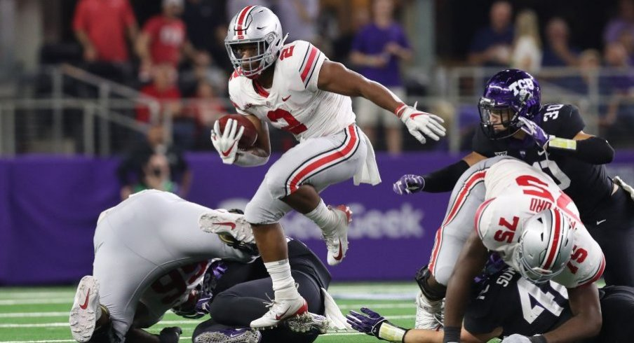 J.K. Dobbins ran for over 100 yards in just three games last season.