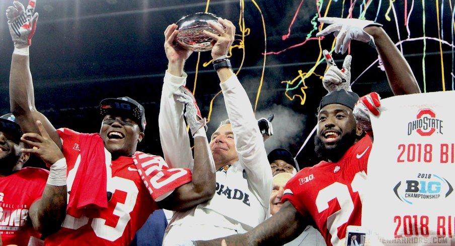Football was one of six Ohio State teams to win Big Ten championships in 2018-19.
