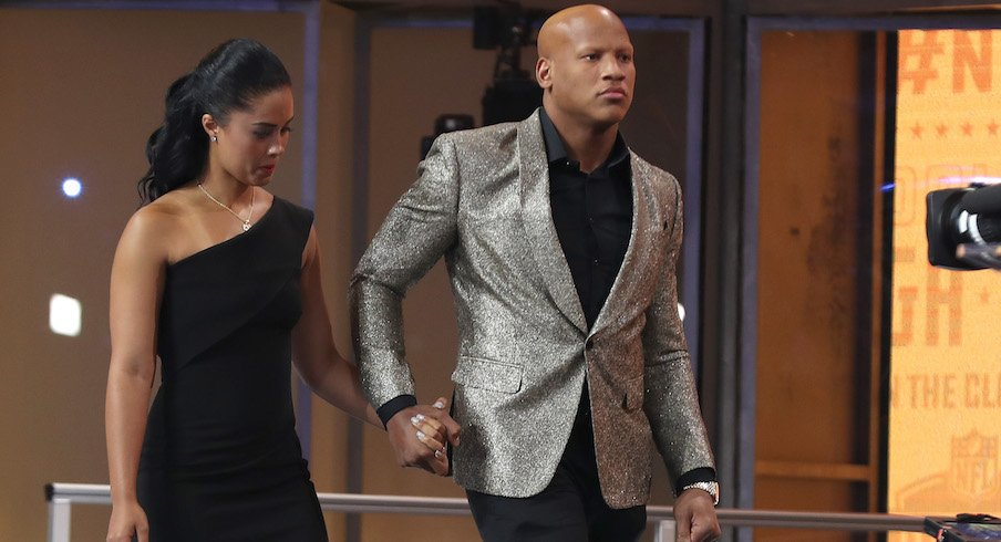 Ryan Shazier and his wife, Michelle