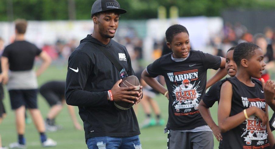 Denzel Ward at his Elite Football Skills Camp at Nordonia High School on Friday.