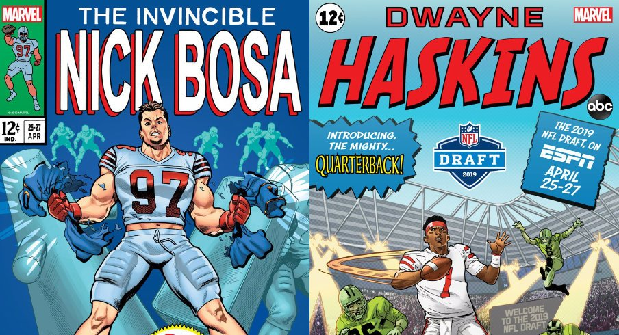 Dwayne Haskins and Nick Bosa are Iconic Comic Books.