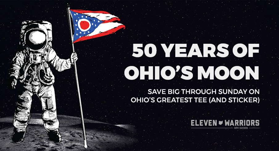 That's Ohio's Moon tee and sticker on sale through Sunday