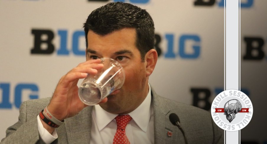 Ryan Day sips his water in today's skull session.