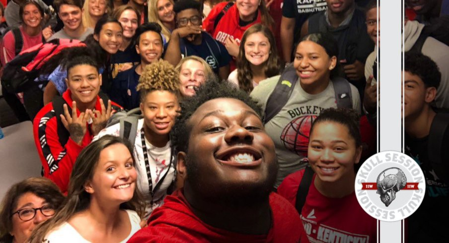 It's a where's waldo of Ohio State freshman student athletes in today's skull session.