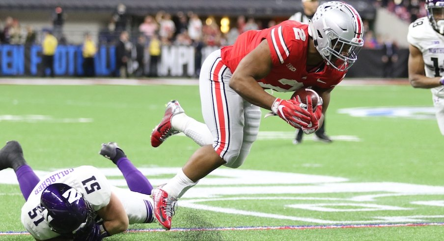 J.K. Dobbins was incredible after contact.