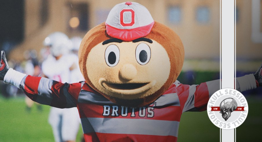 Brutus is giving a big hug in today's skull session.