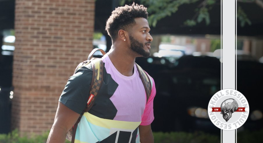 K.J. Hill is looking like the fresh prince in today's skull session.