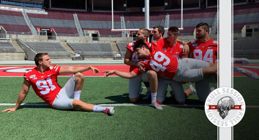 The specialists are having fun in today's skull session.