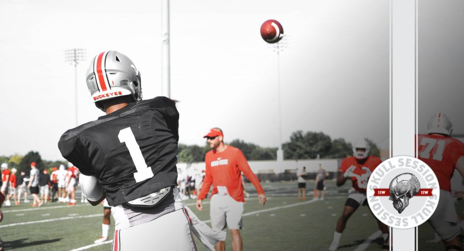 Justin Fields is almost Ohio State's starting quarterback in today's skull session.