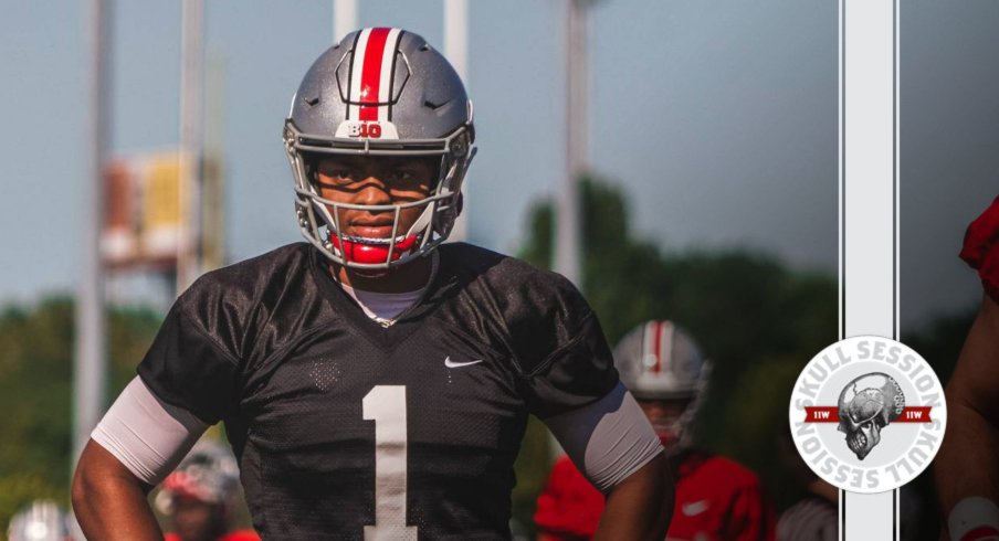 Justin Fields is QB1 in today's skull session.