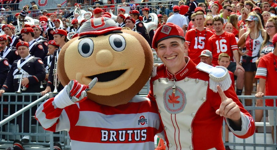 Brutus Buckeye and Friend
