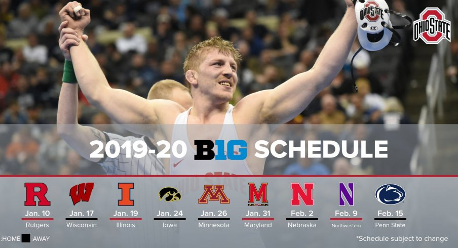 Ohio State Schedule 2020.Wrestling Ohio State Releases Big Ten Schedule Will Face