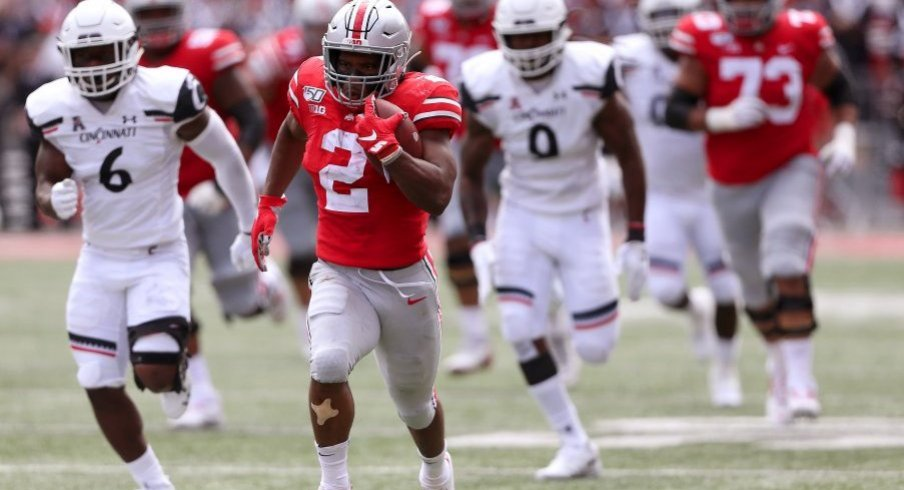 J.K. Dobbins sprints 60 yards for six.