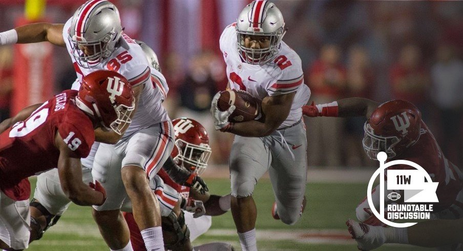 J.K. Dobbins torched Indiana for 29 carries and 181 yards in his collegiate debut back in 2017.
