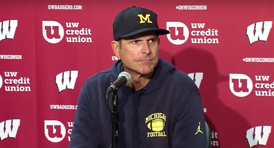 Jim Harbaugh failed once again against the No. 13 Badgers in Madison.