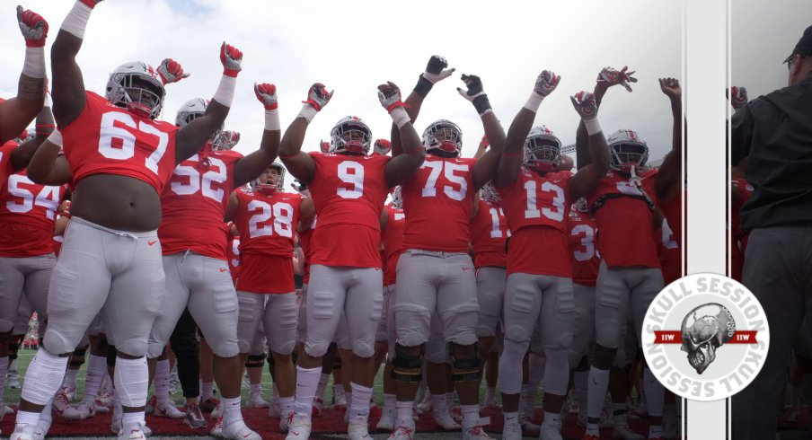 Ohio State is celebrating in today's skull session.