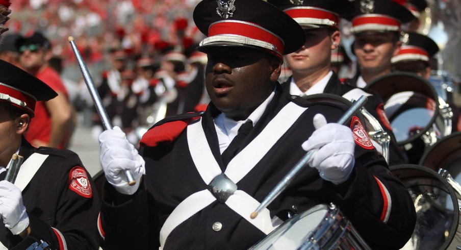 A member of the Ohio State University Marching Band