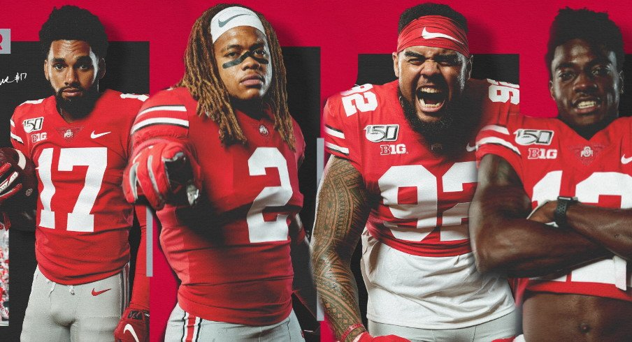 Ohio State Names Chris Olave Chase Young Haskell Garrett And Sevyn Banks As Players Of The Game In Ohio State S Beatdown Of Miami Ohio Eleven Warriors