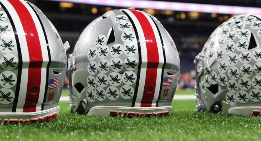 Time and Change: Ohio State's Buckeye Leaf Helmet Stickers, The First of  Their Kind | Eleven Warriors