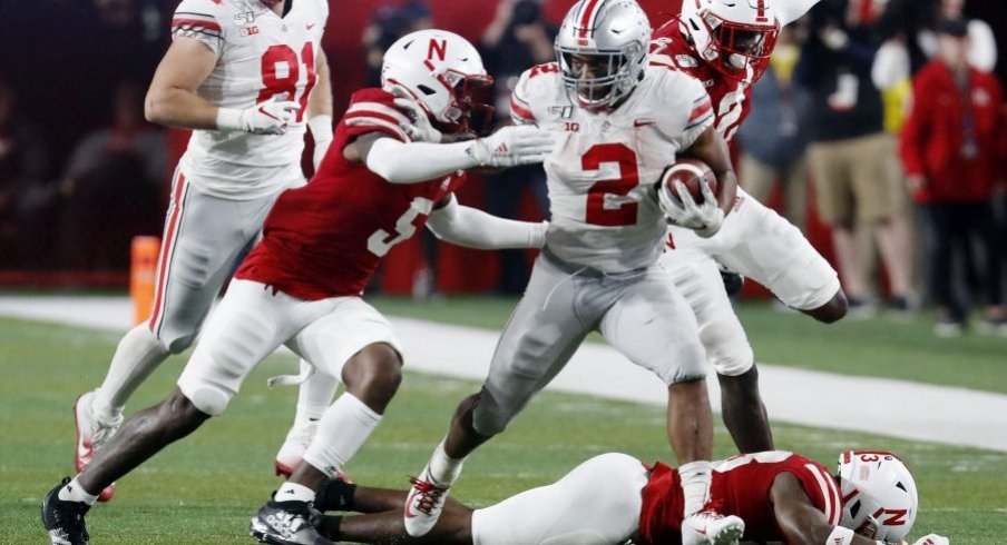 J.K. Dobbins hit Nebraska for 177 rushing yards on 7.4 per attempt.