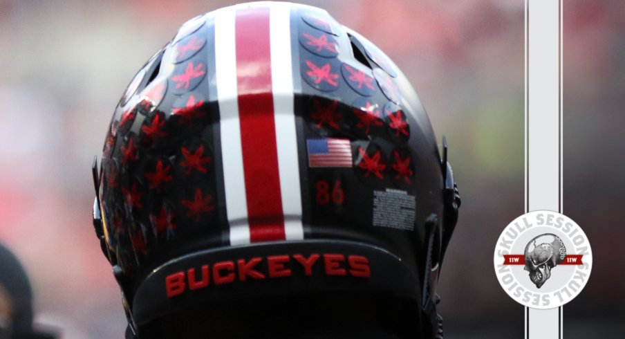 The Buckeyes are back in black in today's skull session.