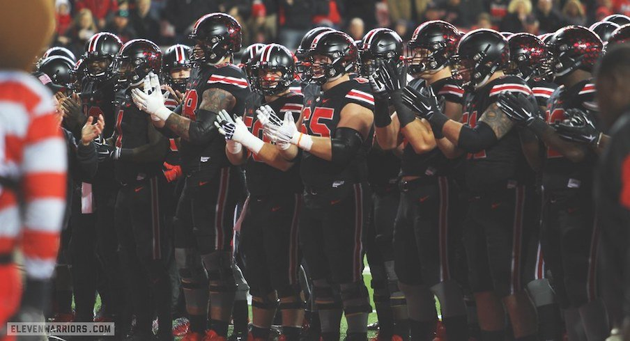 Ohio State's breaking out the black uniforms.
