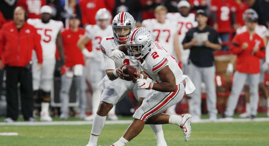 The Buckeyes' 2019 offense appears to be designed around the talents of their #1 and #2 threats.