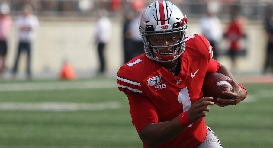 Justin Fields' is officially a heisman contender.