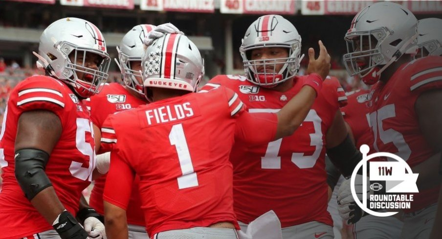 Justin Fields has accounted for 26 touchdowns through Ohio State's first six games.
