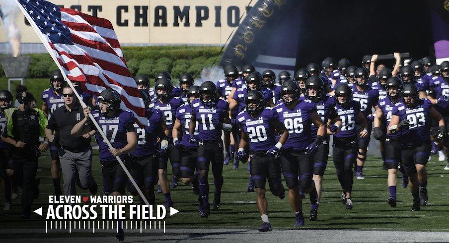 Northwestern takes the field.
