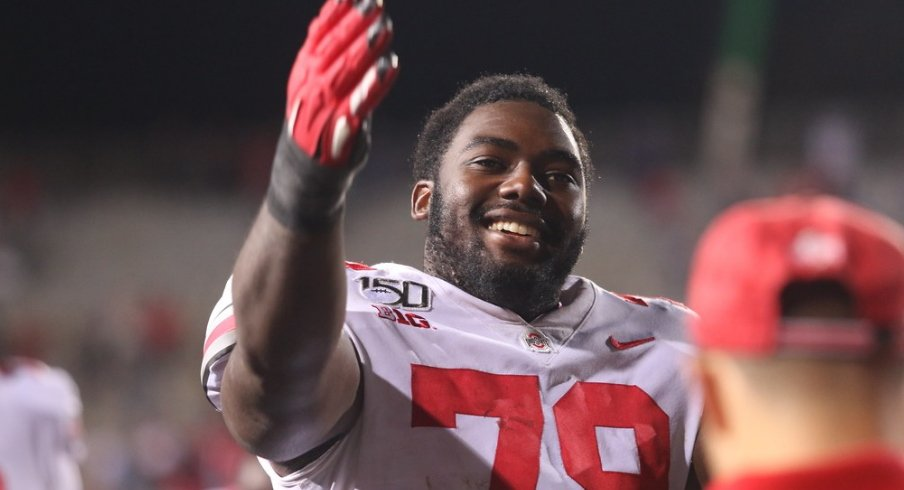 Ohio State offensive lineman Nicholas Petit-Frere
