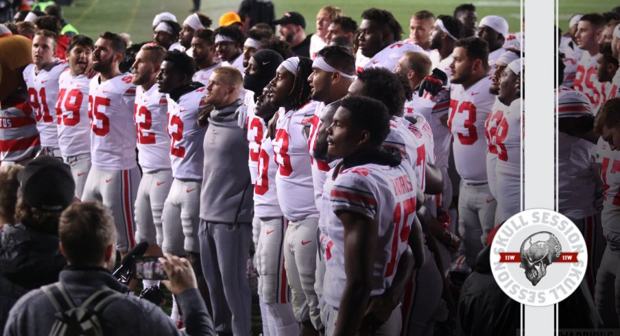 The Buckeyes are singing carmen Ohio in today's skull session.