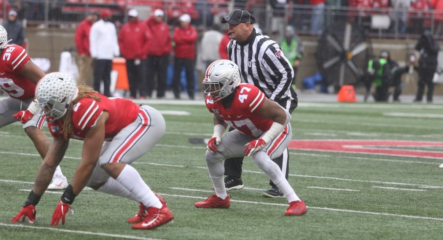Justin Hilliard was a surprise contributor in Ohio State's 4-4 scheme against Wisconsin.