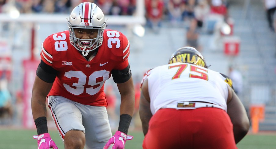 Malik Harrison vs. Maryland in 2018