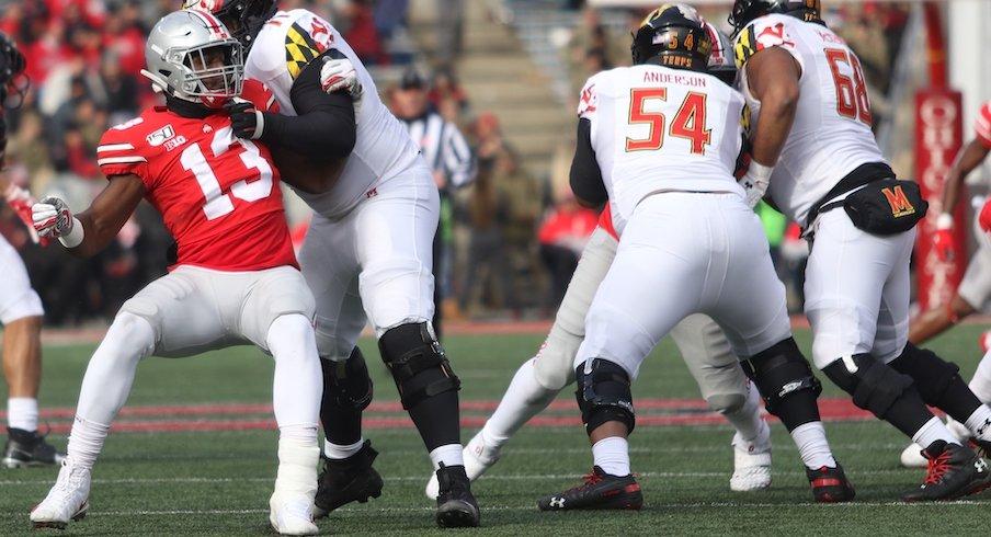 Rashod Berry on defense against Maryland.