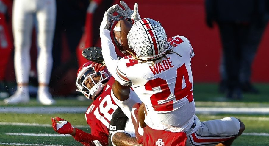 Shaun Wade earned his first interception of the year in spectacular fashion against Rutgers.