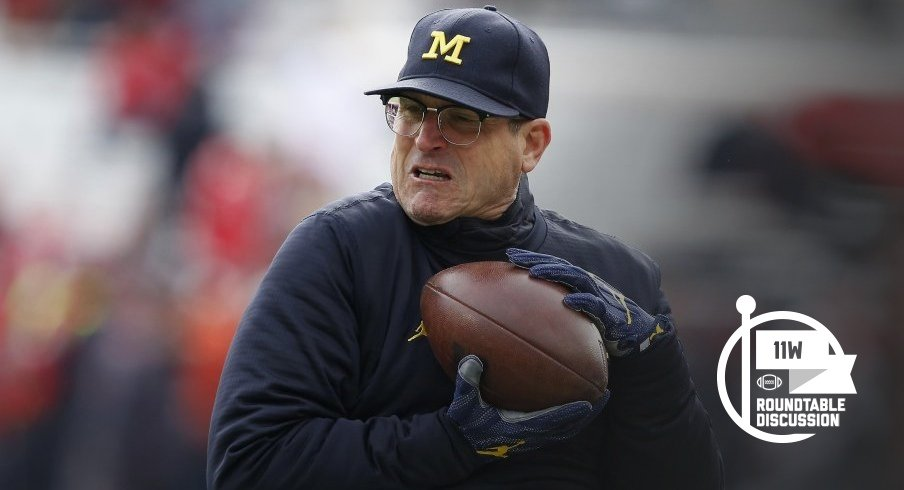 Michigan head coach Jim Harbaugh enters tomorrow's contest with an 0-4 record against the Buckeyes.