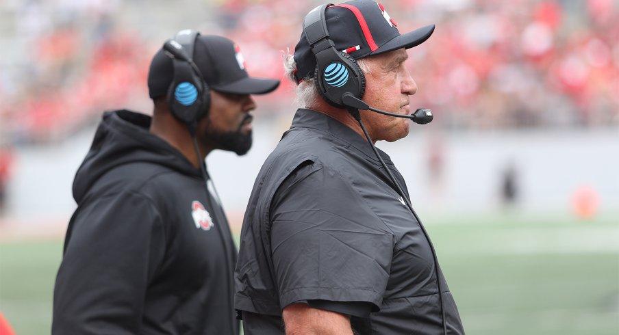 Ohio State coaches Al Washington (left) and Greg Mattison (right)