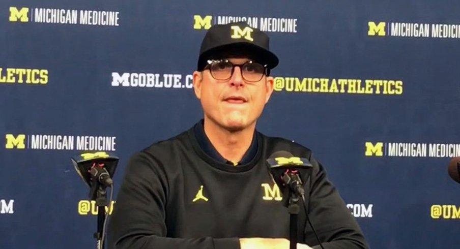 Michigan football head coach Jim Harbaugh