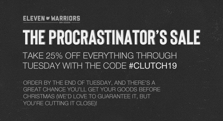 The Procrastinator's Sale at Eleven Warriors Dry Goods