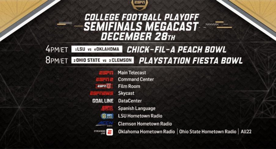 ESPN will Megacast Ohio State vs Clemson
