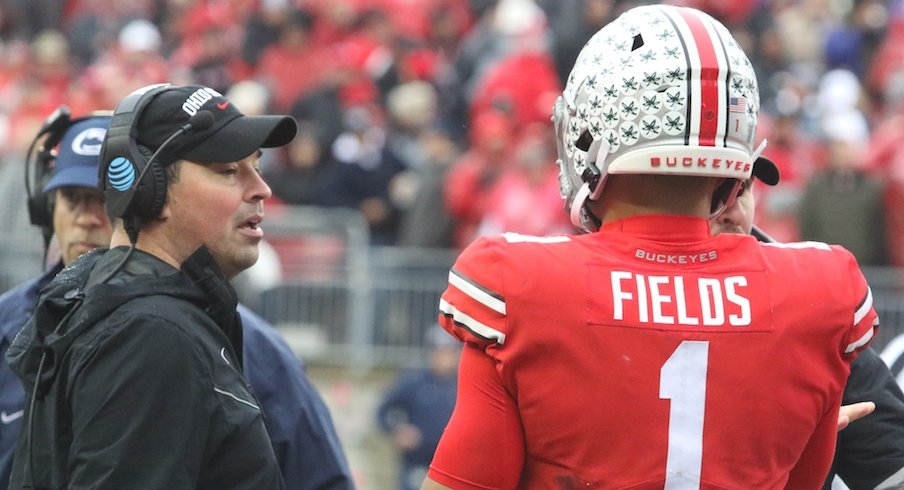 Justin Fields and Ryan Day