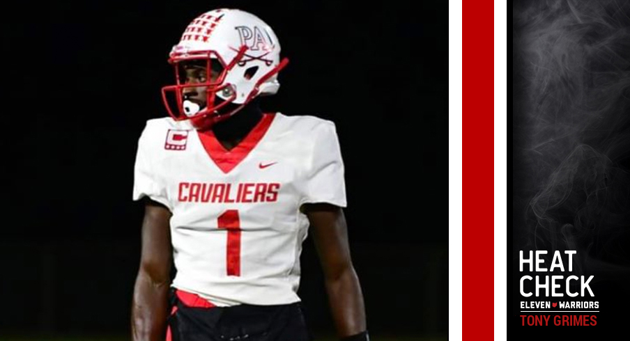 Five-star cornerback Tony Grimes is No. 1 on the board for 2021.