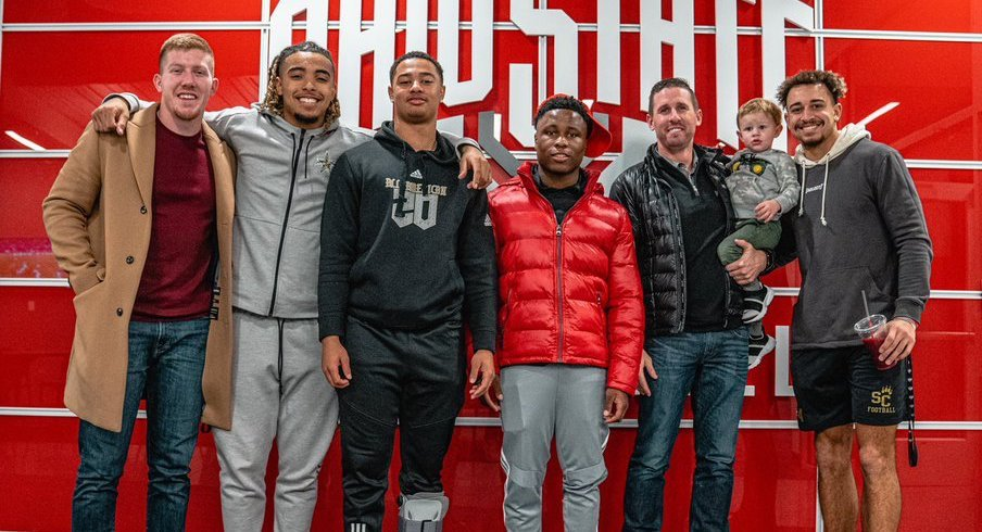 Ohio State's receivers are on campus.
