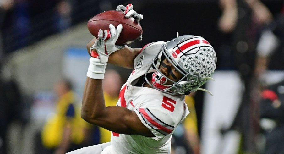 Garrett Wilson hauled in 30 receptions for 432 yards and five touchdowns as a true freshman for the Buckeyes.